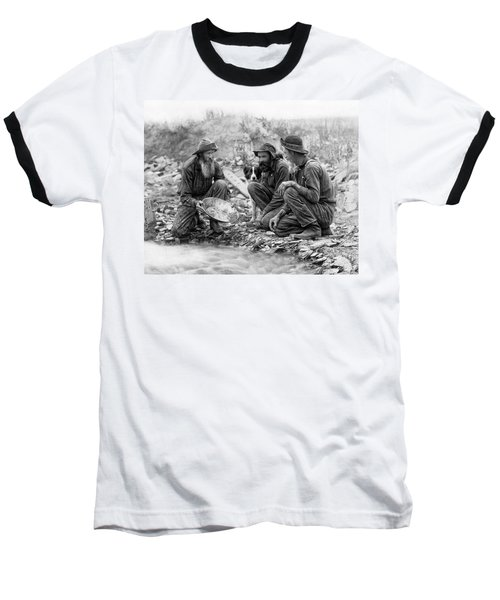 3 Men And A Dog Panning For Gold C. 1889 Baseball T-Shirt