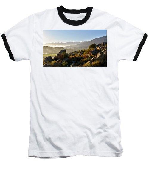 morning fog over Ceres Baseball T-Shirt by Werner Lehmann