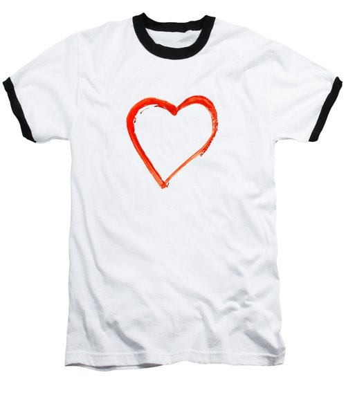 Baseball T-Shirt featuring the drawing Painted Heart - Symbol Of Love by Michal Boubin