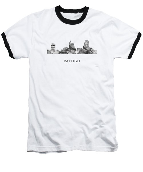 Raleigh North Carolina Skyline Baseball T-Shirt