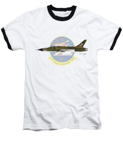 Republic F-105g Wild Weasel 17ww Baseball T-Shirt