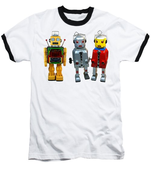 3 Space Robot Toys Original Art Baseball T-Shirt
