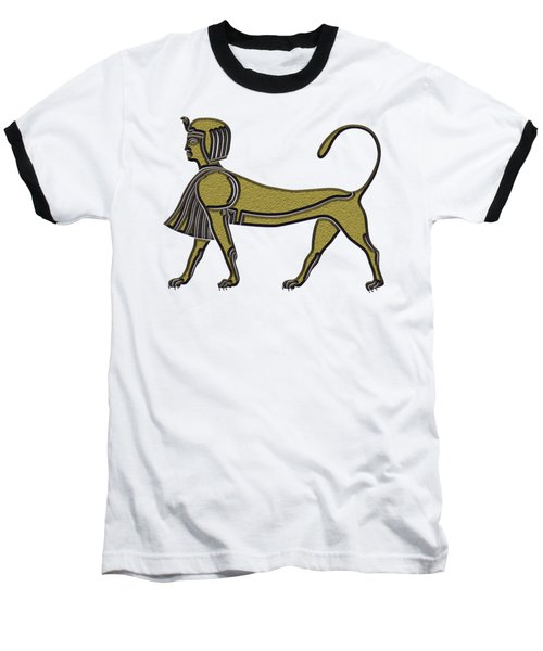 Baseball T-Shirt featuring the digital art Sphinx - Mythical Creature Of Ancient Egypt by Michal Boubin