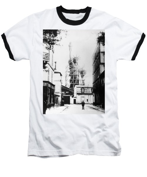 Statue Of Liberty, Paris Baseball T-Shirt