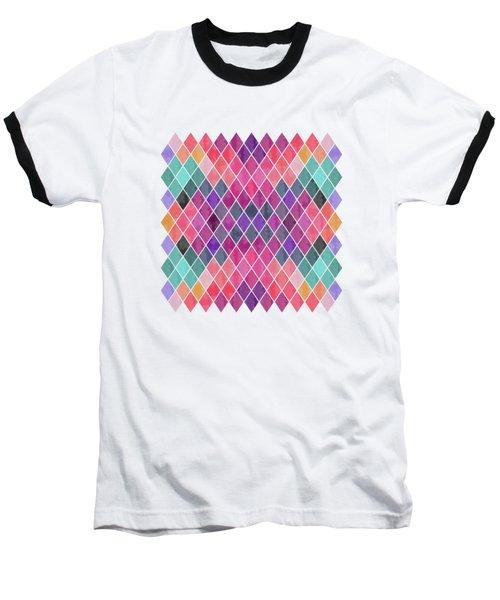 Watercolor Geometric Background Baseball T-Shirt