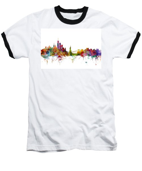 New York Skyline Baseball T-Shirt