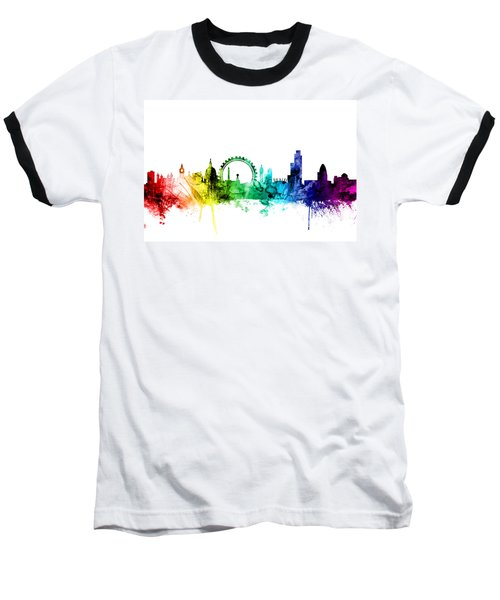 London England Skyline Baseball T-Shirt