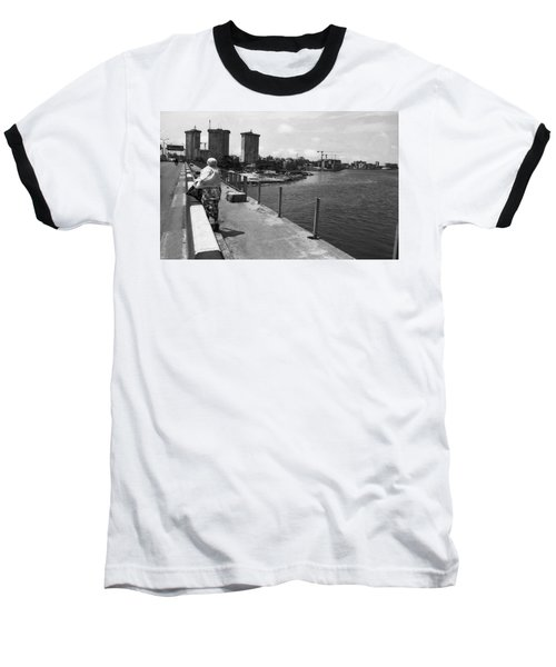 Falomo Bridge Across The Lagoon Baseball T-Shirt
