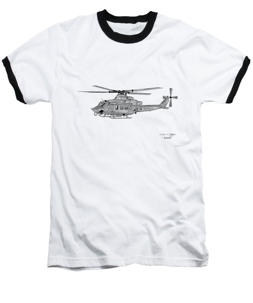 Baseball T-Shirt featuring the digital art Bell Helicopter Uh-1y Venom by Arthur Eggers