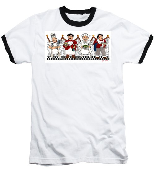 4 Chefs Baseball T-Shirt by John Keaton