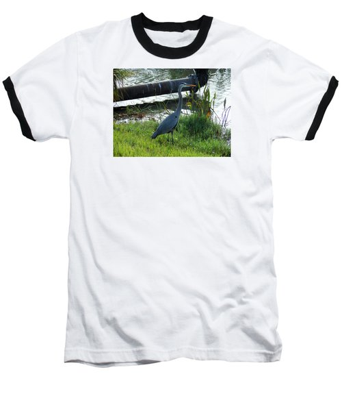 Baseball T-Shirt featuring the photograph Great Blue Heron by Kay Gilley