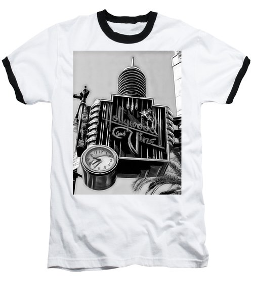Hollywood And Vine Street Sign Collection Baseball T-Shirt by Marvin Blaine