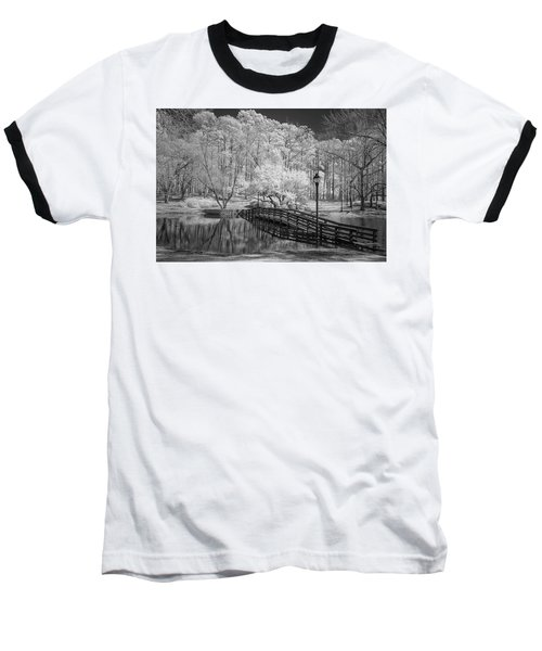 Bridge Over Water Baseball T-Shirt by Denis Lemay