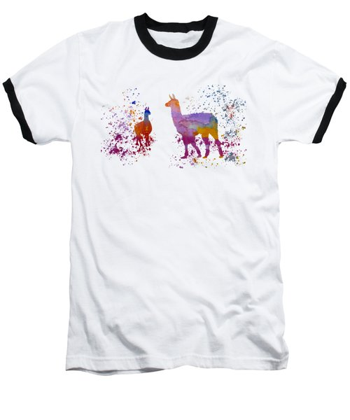 Llamas Baseball T-Shirt by Mordax Furittus
