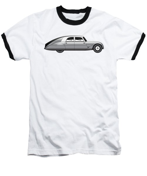 Baseball T-Shirt featuring the digital art Sedan - Vintage Model Of Car by Michal Boubin