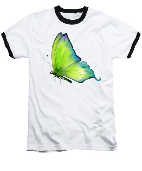 4 Skip Green Butterfly Baseball T-Shirt