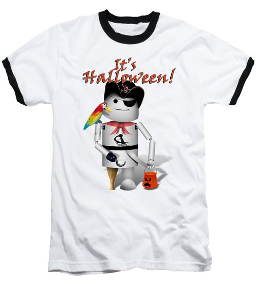 Trick Or Treat Time For Robo-x9 Baseball T-Shirt by Gravityx9 Designs