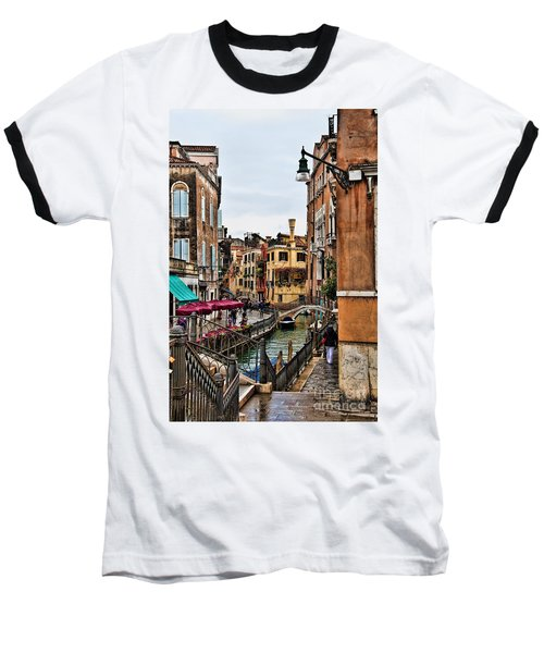 Baseball T-Shirt featuring the photograph Venice by Shirley Mangini
