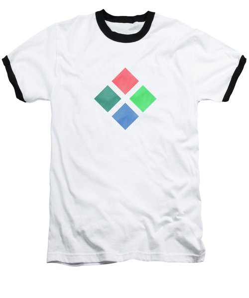 Watercolor Geometric Background Baseball T-Shirt