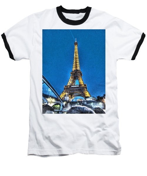 Baseball T-Shirt featuring the mixed media Yury Bashkin Paris by Yury Bashkin