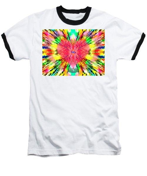 Baseball T-Shirt featuring the mixed media 444 Loves Vibration by Barbara Tristan