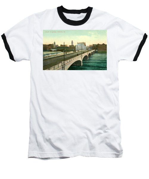 4th Street Bridge Waterloo Iowa Baseball T-Shirt