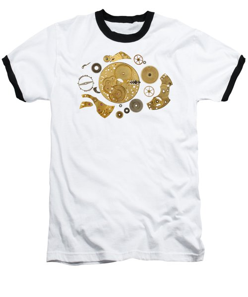 Clockwork Mechanism Baseball T-Shirt by Michal Boubin
