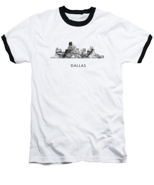 Dallas Texas Skyline Baseball T-Shirt