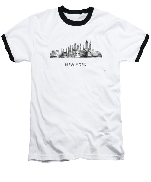 New York New York Skyline Baseball T-Shirt