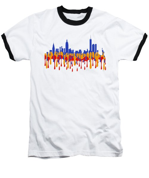 New York Ny Skyline Baseball T-Shirt