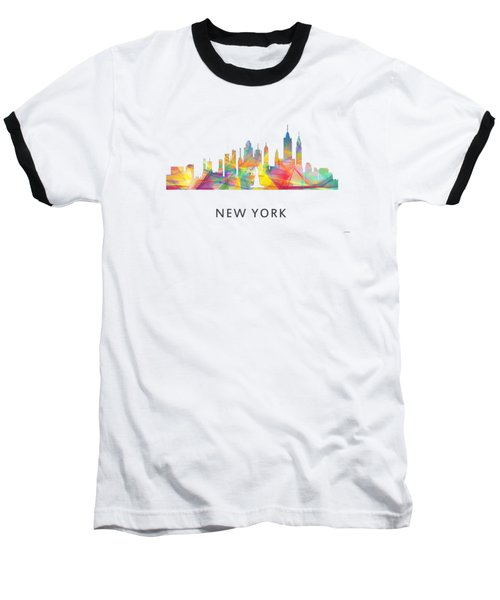 New York Skyline Baseball T-Shirt by Marlene Watson
