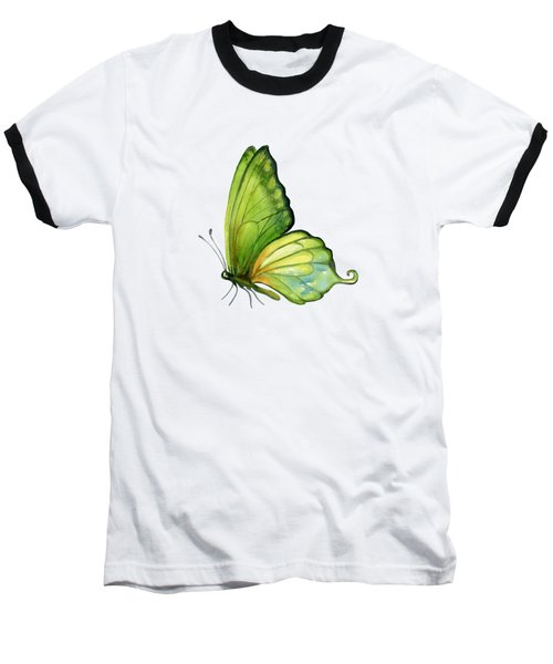 5 Sap Green Butterfly Baseball T-Shirt