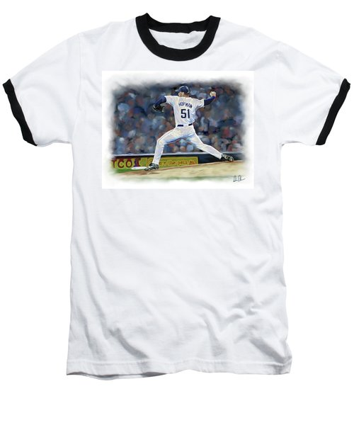 Baseball T-Shirt featuring the photograph Trevor Hoffman by Don Olea