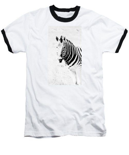 Baseball T-Shirt featuring the photograph Zebra Art by Werner Lehmann