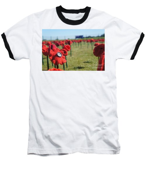 5000 Poppies Baseball T-Shirt by Therese Alcorn