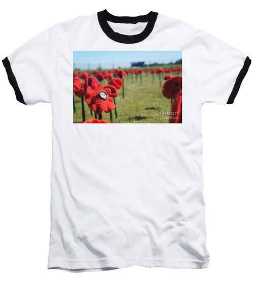 5000 Poppies Baseball T-Shirt