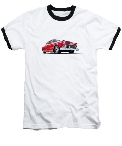 55 Red Baseball T-Shirt by Douglas Pittman