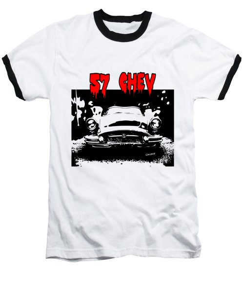 Baseball T-Shirt featuring the digital art 57 Chev by Kim Gauge