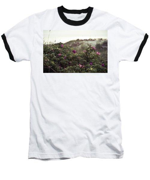 Rose Bush And Dunes Baseball T-Shirt