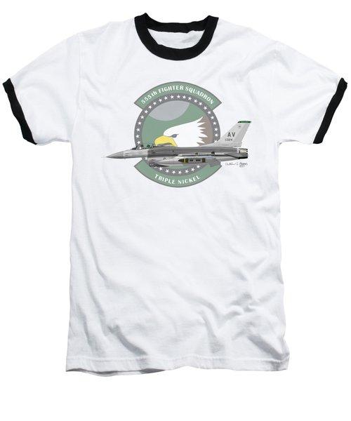 Lockheed Martin F-16c Viper Baseball T-Shirt by Arthur Eggers