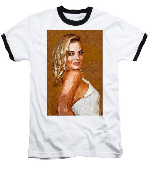 Margot Robbie Art Baseball T-Shirt by Best Actors