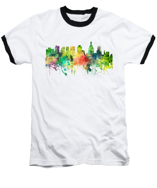 Philadelphia Pennsylvania Skyline Baseball T-Shirt by Marlene Watson