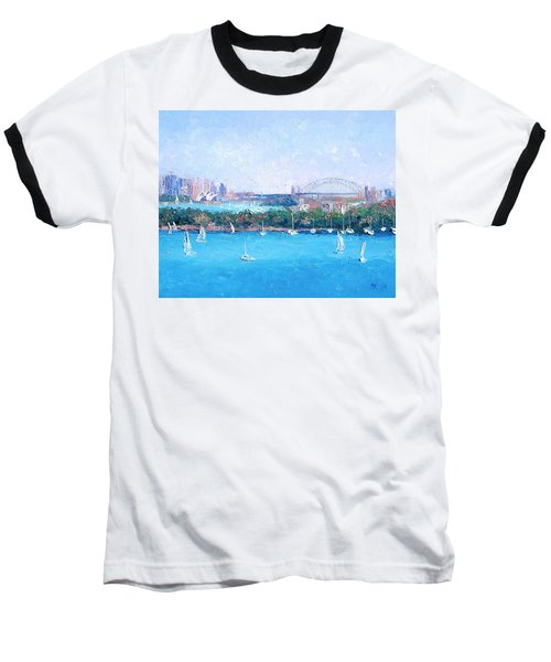 Sydney Harbour And The Opera House By Jan Matson Baseball T-Shirt