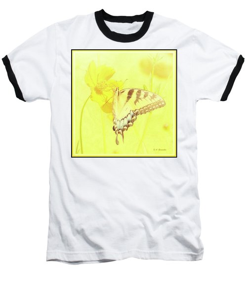 Tiger Swallowtail Butterfly On Cosmos Flower Baseball T-Shirt