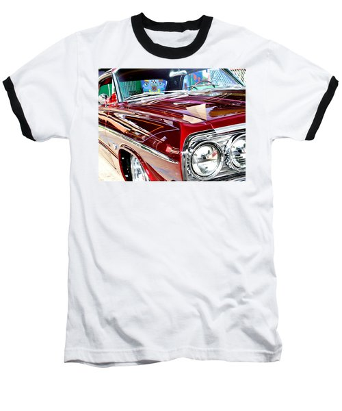 Baseball T-Shirt featuring the photograph 64 Chevy Impala by Christopher Woods