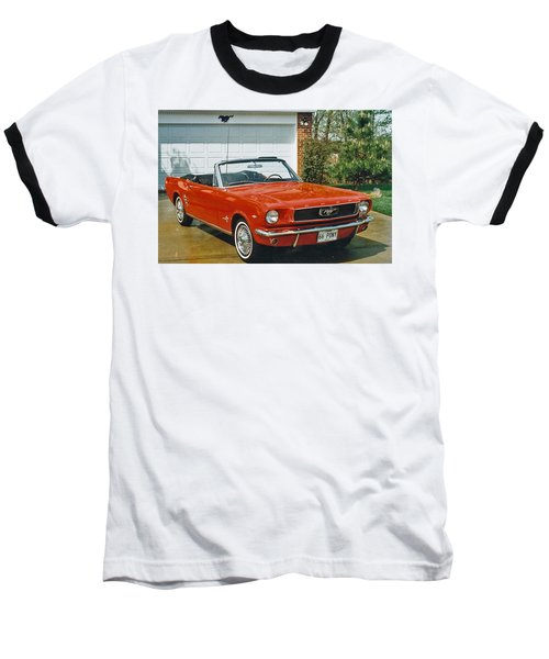 66 Mustang Convertable Baseball T-Shirt