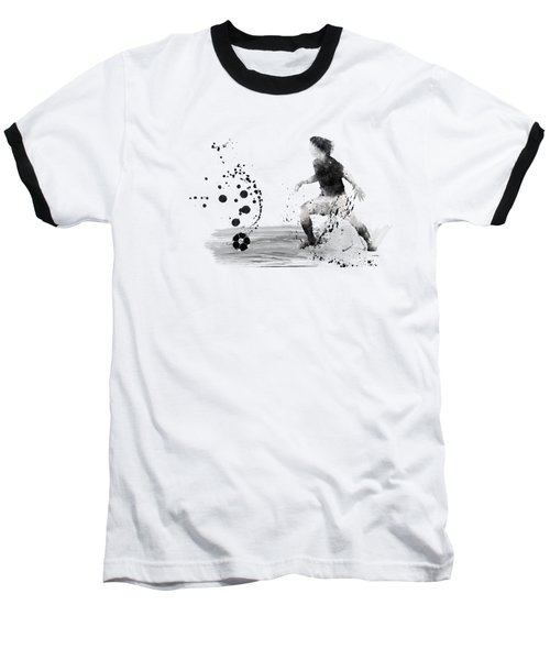 Football Player Baseball T-Shirt by Marlene Watson