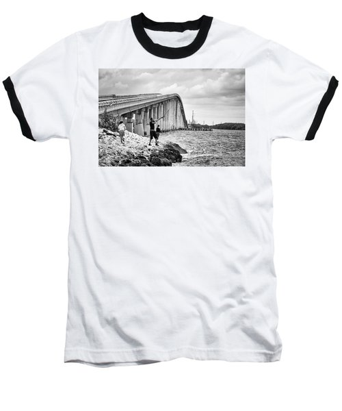 7 Mile Bridge B_w Baseball T-Shirt