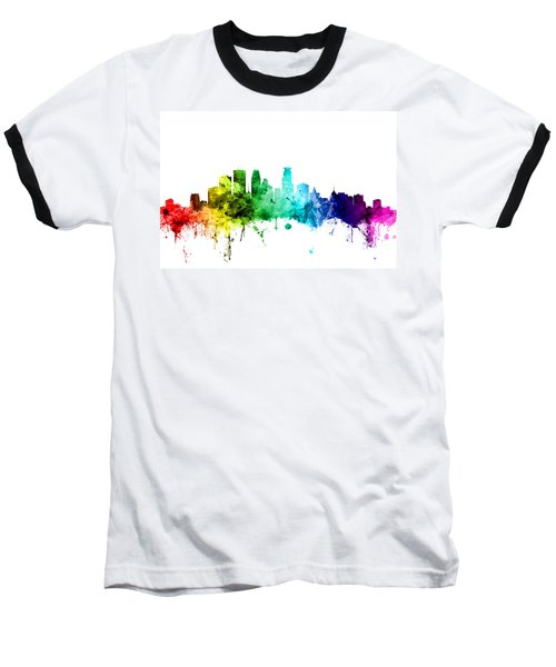Minneapolis Minnesota Skyline Baseball T-Shirt