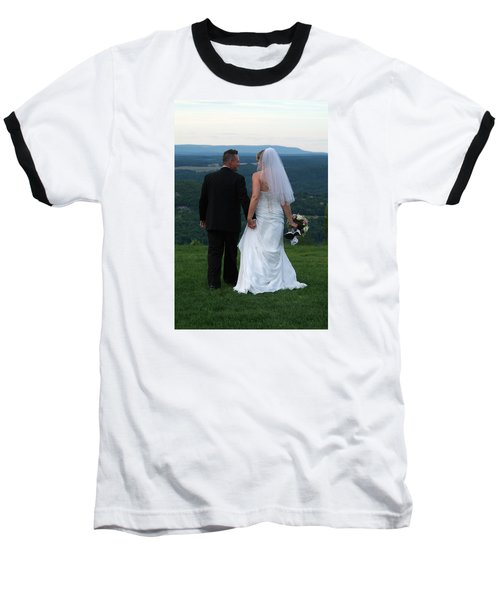 Baseball T-Shirt featuring the photograph Rebecca And David by Michael Dorn